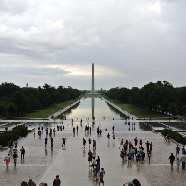 """Washington Monument View"" stock image"