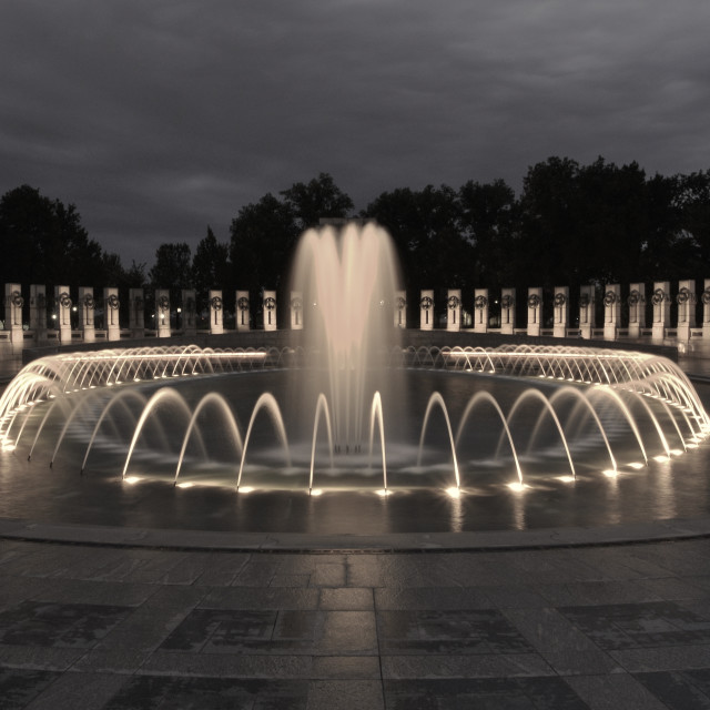 """WW2 Memorial Washington DC Fountain"" stock image"