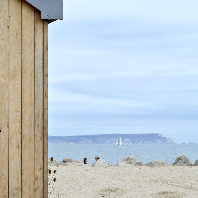 """To the Beach hut"" stock image"