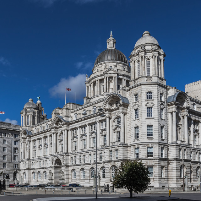"""The Three Graces, Liverpool"" stock image"
