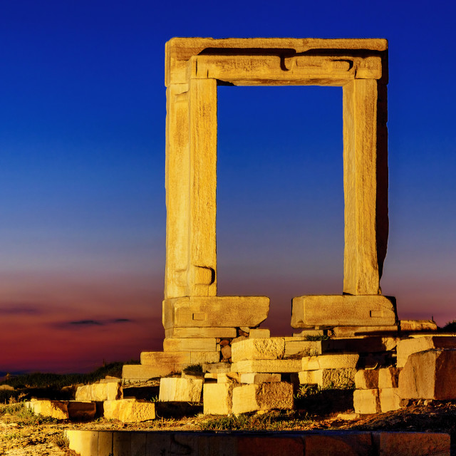 """Portara of Naxos Island"" stock image"