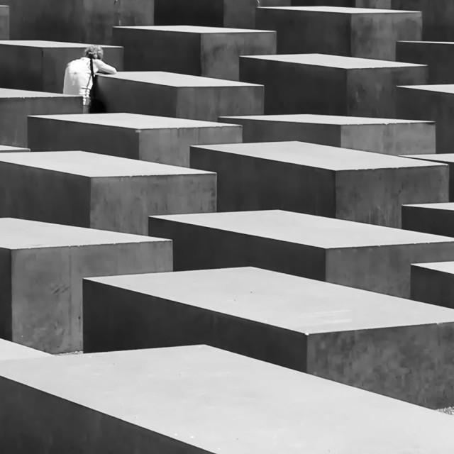 """The Berlin Holocaust Memorial"" stock image"