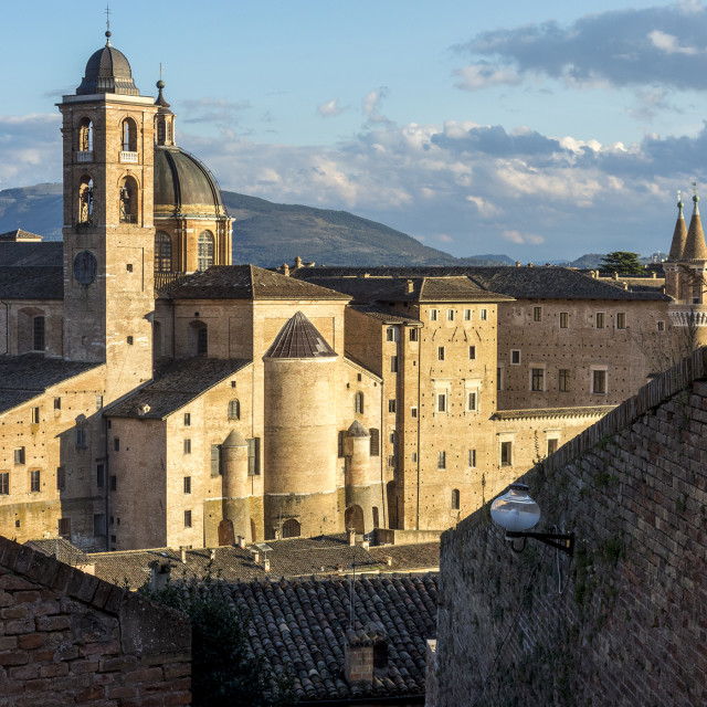 """Urbino from the Citadel"" stock image"