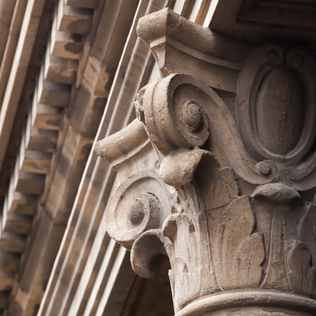 """""""Old cement column topper"""" stock image"""