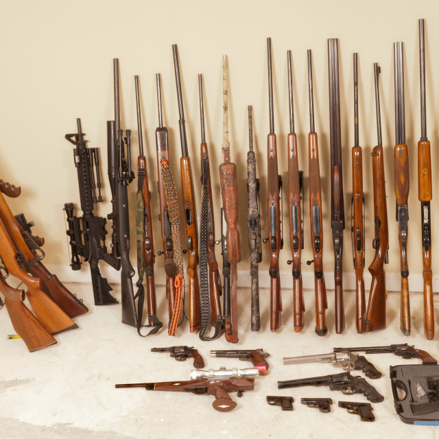 """""""collection of firearms"""" stock image"""