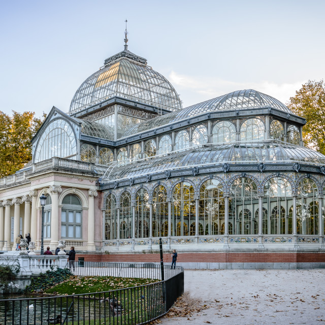 """""""Crystal Palace in Madrid"""" stock image"""