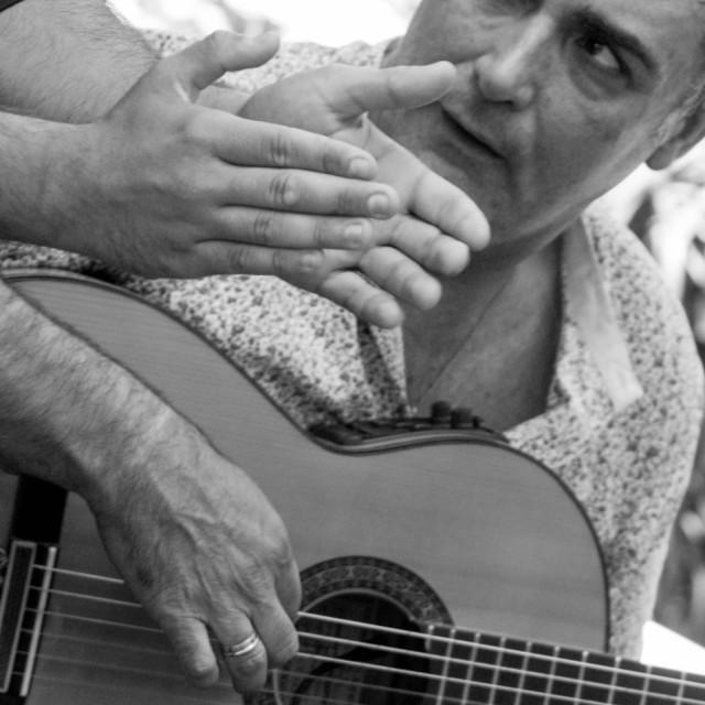 """Flamenco guitar"" stock image"