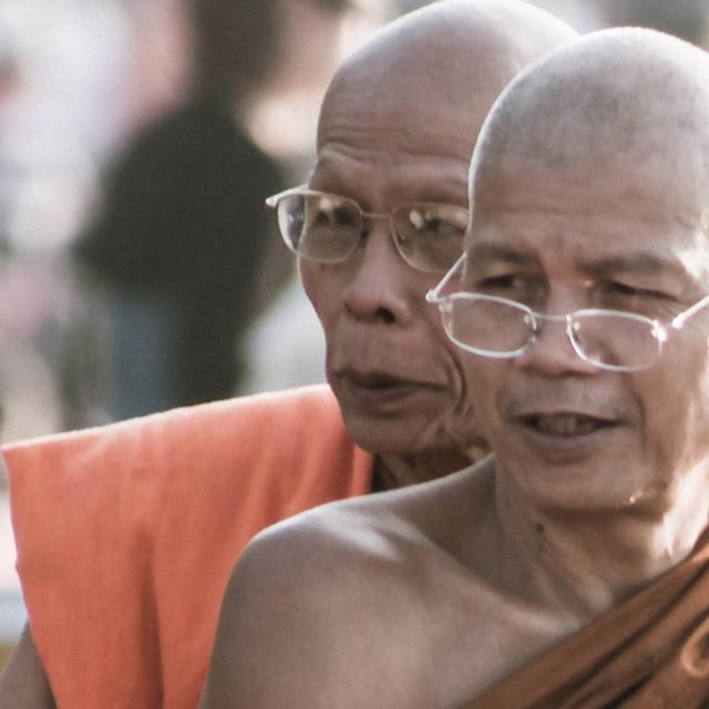 """Monks - Laos"" stock image"