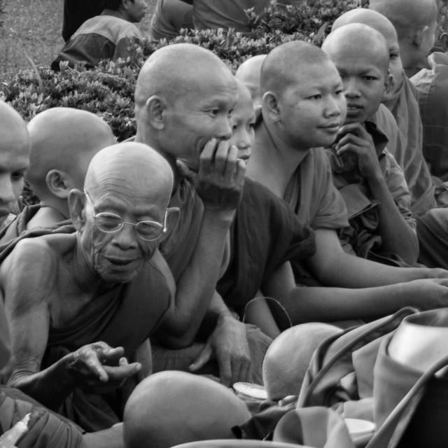 """Monks - That Luang festival"" stock image"