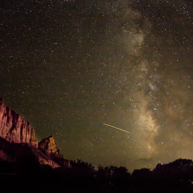 """Zion Milky Way"" stock image"
