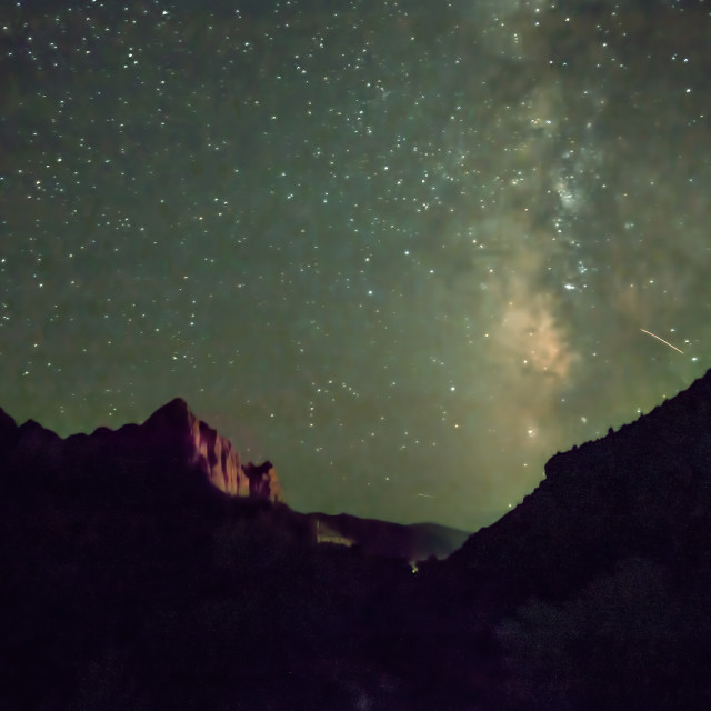 """Zion Milky Way"" stock image"