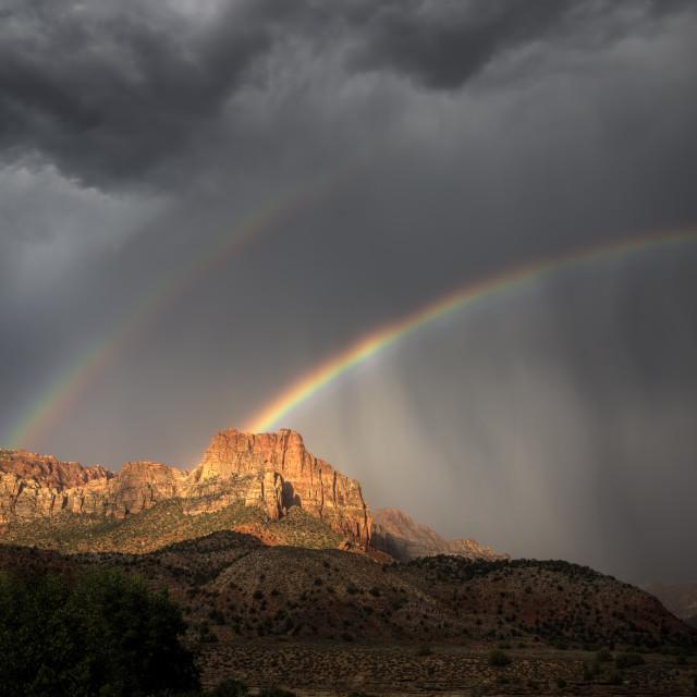 """Zion Rainbow"" stock image"
