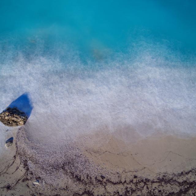 """Kathisma beach in Lwfkada island Greece"" stock image"