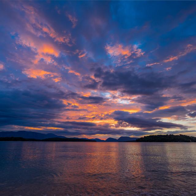 """Sunrise in Nidri Lefkas island"" stock image"