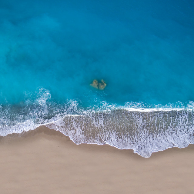 """Kathisma beach in Lefkada island Greece"" stock image"