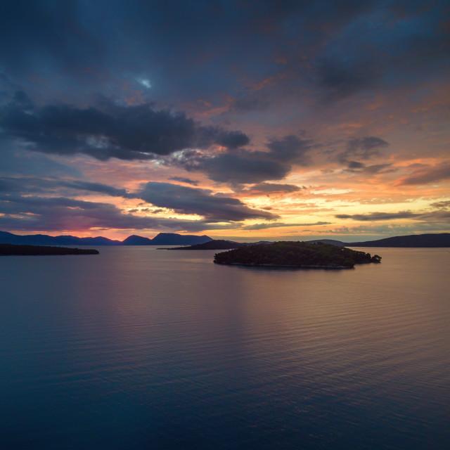 """Sunrise in Nidri Lefkas island Greece"" stock image"