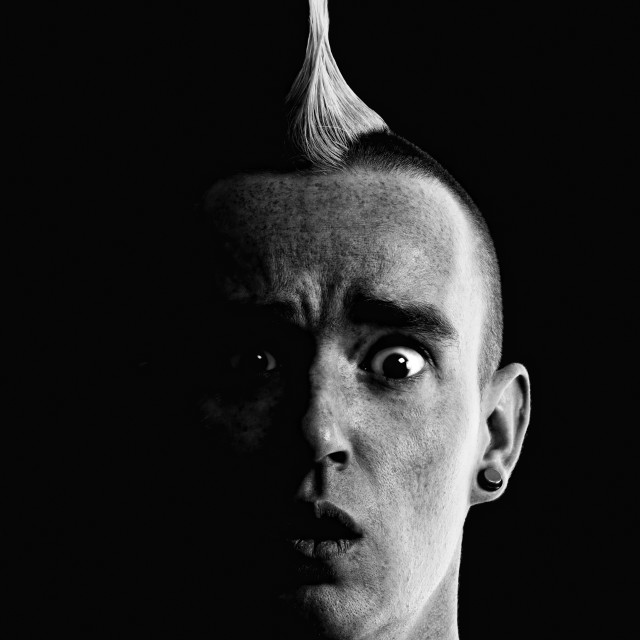 """""""Man with Mohawk"""" stock image"""