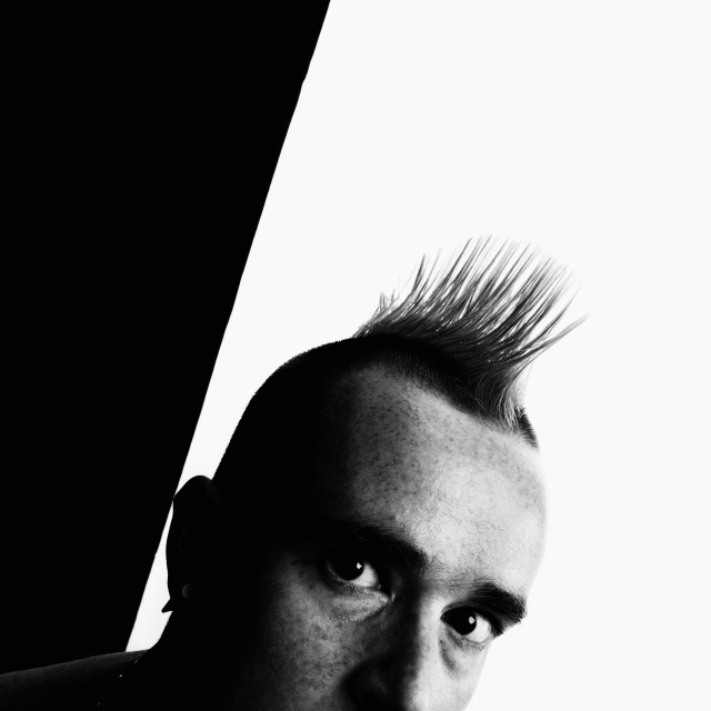 """""""Man with a Mohawk"""" stock image"""