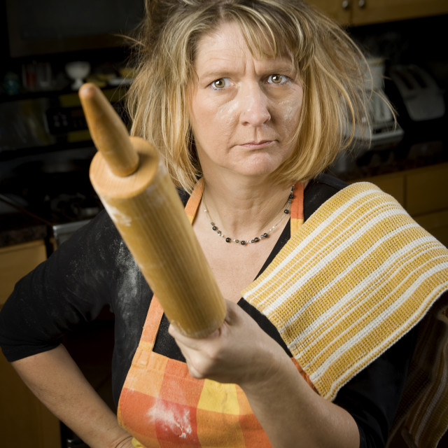 """""""Frustrated Woman Baker"""" stock image"""