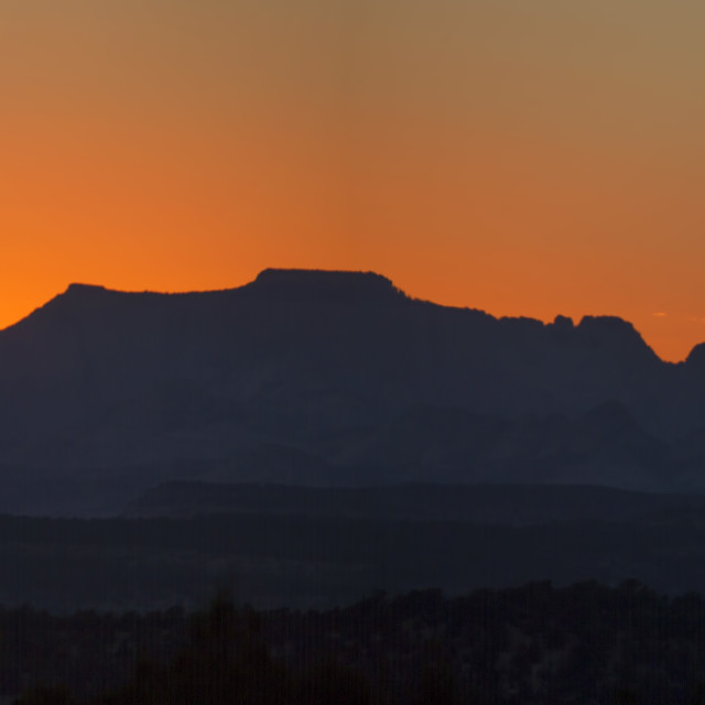 """Zion Sunset"" stock image"