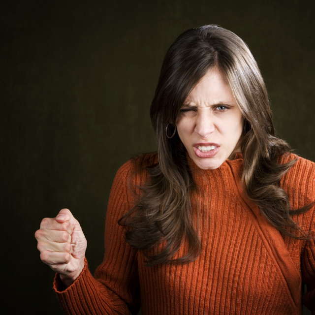 """""""Frustrated Young Woman"""" stock image"""