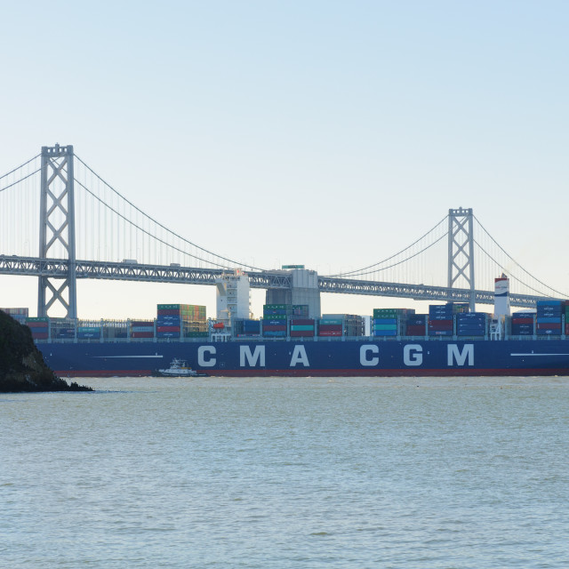 """""""world 10th largest containership"""" stock image"""