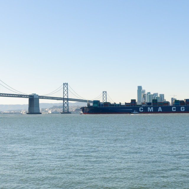 """""""Benjamin Franklin, world 10th largest containership"""" stock image"""