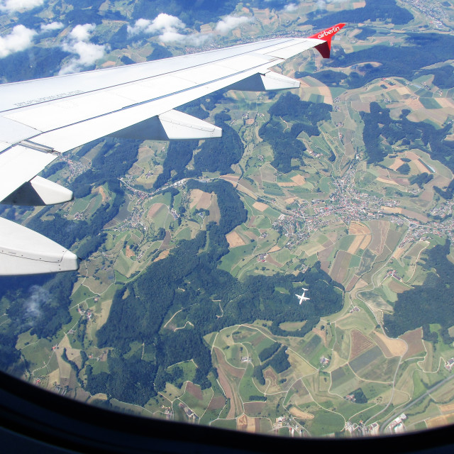 """Air Berlin Over Switzerland"" stock image"