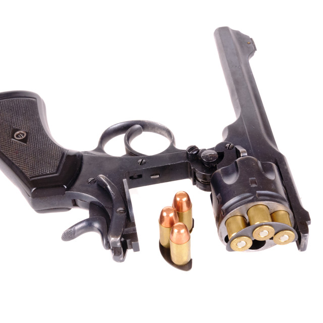 """British revolver"" stock image"