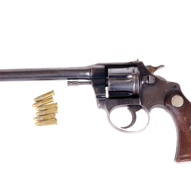 """""""Colt Police Practice .22 revolver"""" stock image"""
