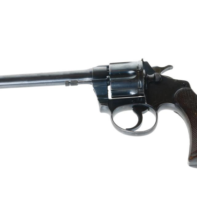 """Police Positive Target pistol"" stock image"