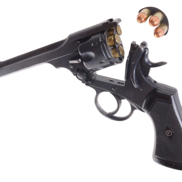 """British break action revolver"" stock image"