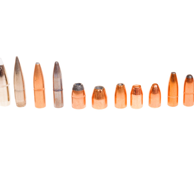 """""""Different types of bullets"""" stock image"""