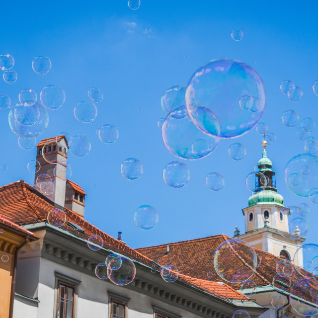 """Summertime in Ljubljana"" stock image"