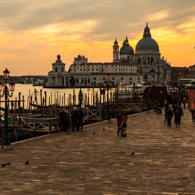 """Riva degli Schiavon sunset"" stock image"