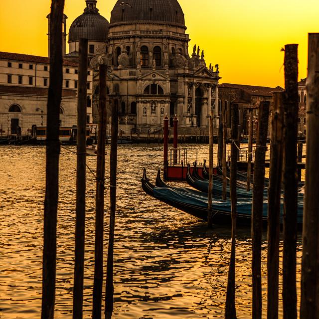 """Basilica di Santa sunset"" stock image"