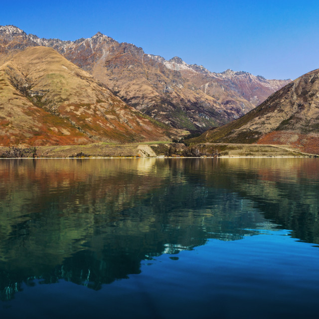 """Discover Queenstown, NZ"" stock image"