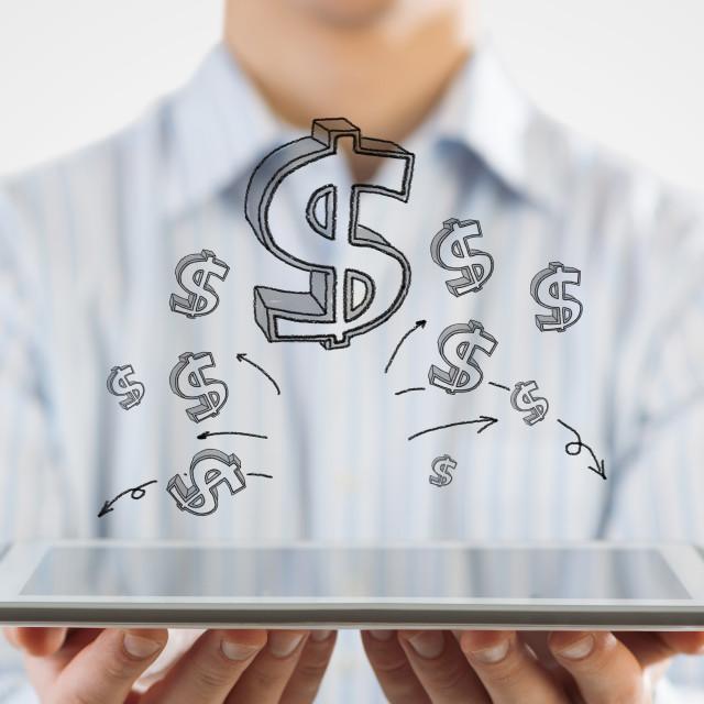 """Earn your money online"" stock image"