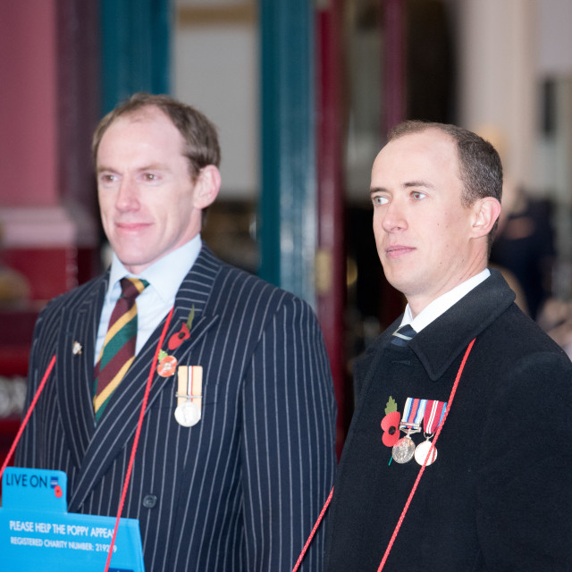 """""""Launch of the Royal British Legion Poppy Appeal in London"""" stock image"""