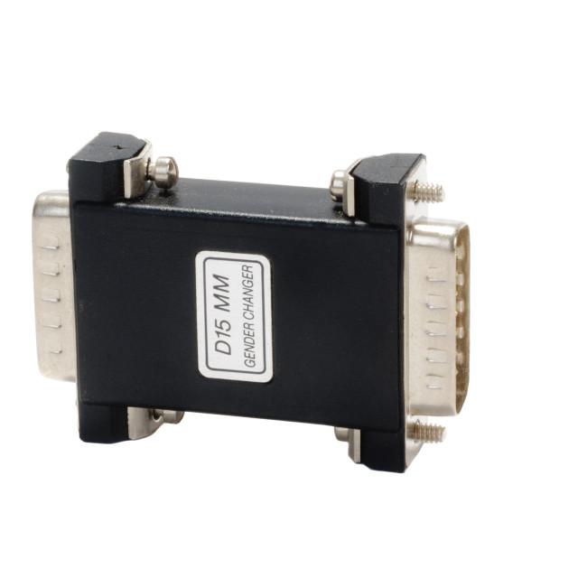 """""""D15 MM Gender Changer plug/socket for VGA monitor connection"""" stock image"""
