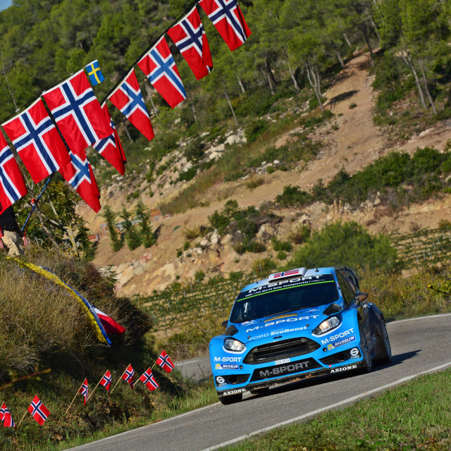 """Ostberg WRC Catalunya Spain"" stock image"