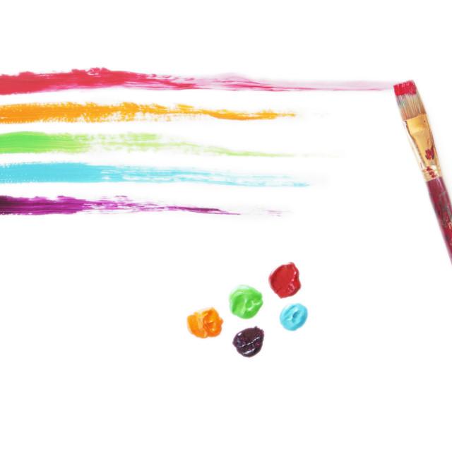 """Rainbow Paint Strokes"" stock image"