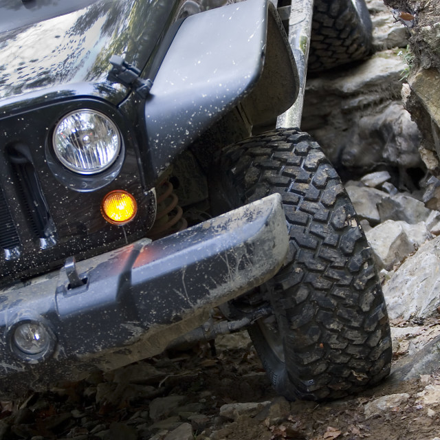 """""""Off Road Vehicle Front End Driving"""" stock image"""