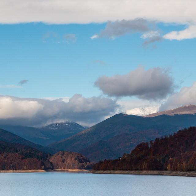 """""""Vidraru Lake"""" stock image"""