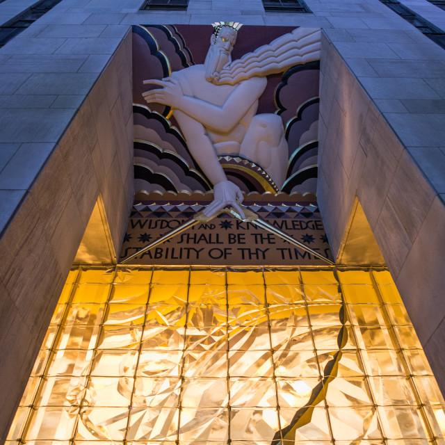"""""""Rockefeller Centre, New York city"""" stock image"""