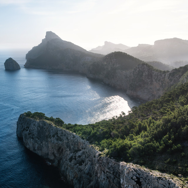 """Viewpoint to Cap de Formentor, Mallorca"" stock image"