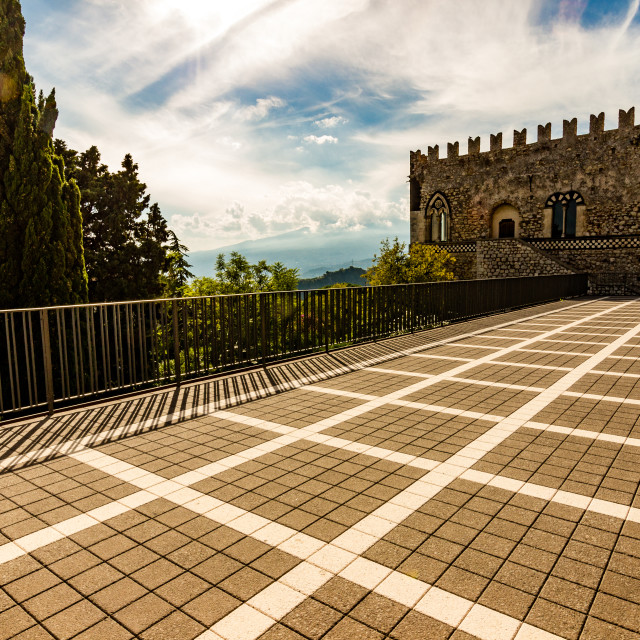 """""""ducal palace in Sicily"""" stock image"""