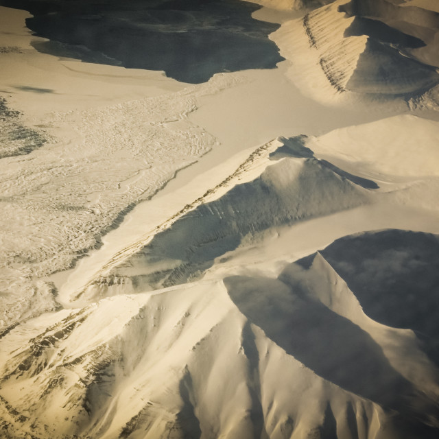 """Svalbard from above"" stock image"