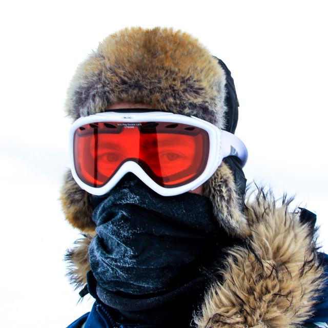 """Exploring Svalbard"" stock image"