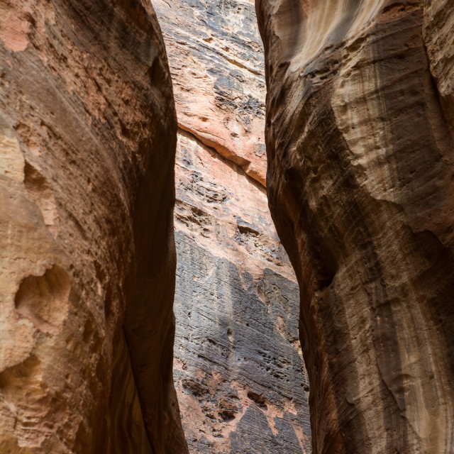 """Petra, The Siq and its colours"" stock image"